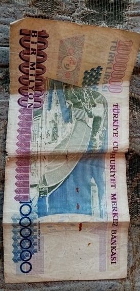 Billete De 1000000 Bir Milyon Turk Lirasi