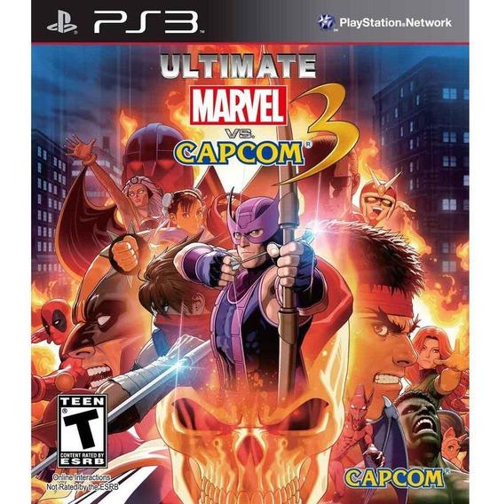 Jogo Usado Ultimate Marvel Vs Capcom 3 - Ps3 Mídia Física