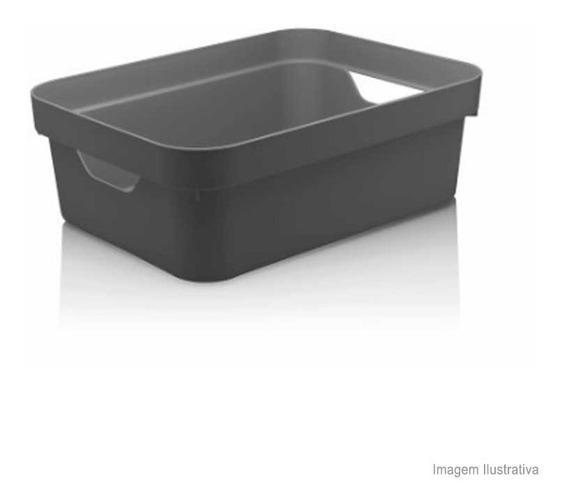 Caixa Organizadora Cube 10,5l Média Chumbo Ou Ou