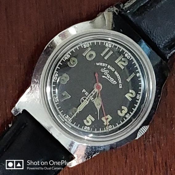 Relógio West End Militar Masc À Corda Funcionando R$400,00