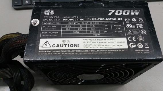 Fonte Atx 24 Pinos + Sata Cooler Master Rs-700-amba-d3