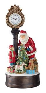 Reloj Navideño Santa Con Luces Led Navidad