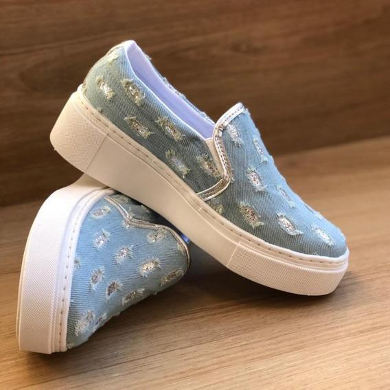 Tênis Feminino Slip Jeans Moderninho