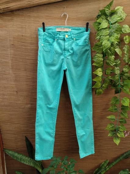 Calça Color Cintura Alta Hot Panths Verde Drops Tam 40