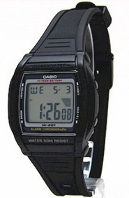 Relógio Casio W201-1av Original A Prova D`água Frete Grátis