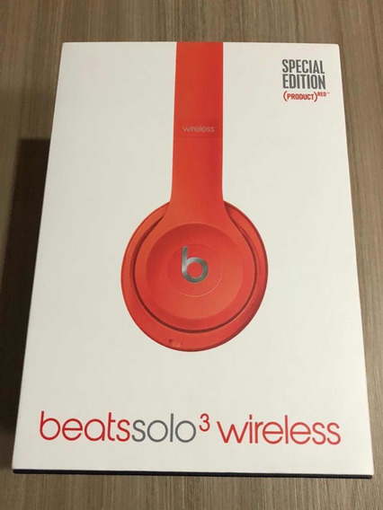 Fone Beats Solo 3 Wireless Special Edition Red