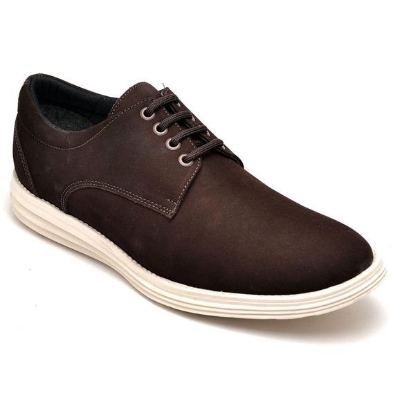 Sapato Tenis Masculino Couro + Palm Gel + Carteira Barato