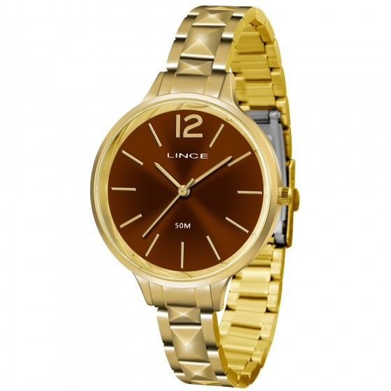 Relógio Lince Lrgh066l M2kx Feminino Dourado - Refinado