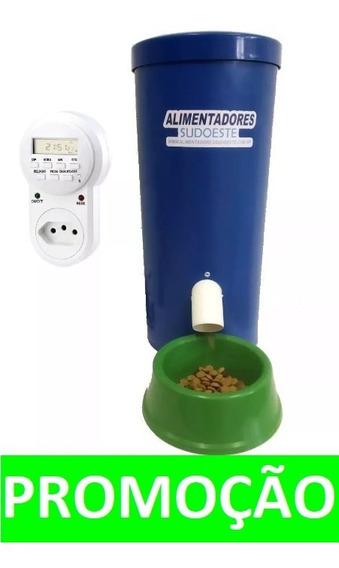 Alimentador Tratador Automático 8kg Cães,aves,peixes,cavalos