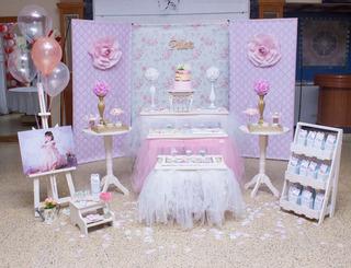 Alquiler Bandejas Espejadas Mobiliario Candy Bar Shabby Chic
