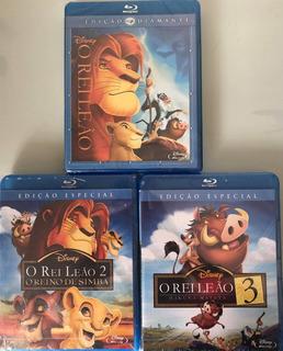 Blu Ray Trilogia O Rei Leão (novo Original Lacrado)
