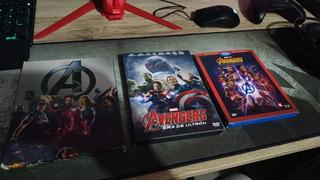 Colección De 15 Películas De Marvel Ucm (dvds Y Unos Bluray)