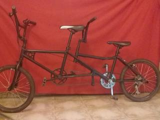 Bicicleta Doble Rodado 20