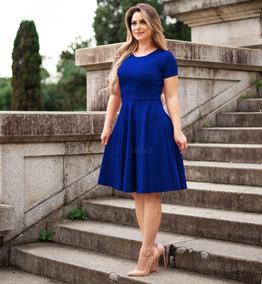 00926883d Vestido Evangelico Estilo Princesa - Vestidos Femininas Azul no ...