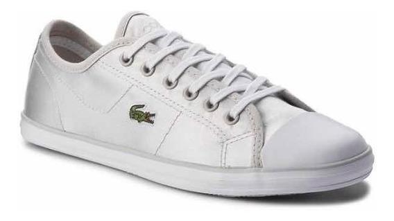 Tenis Lacoste P/dama Ziane Sneaker Plata #4 Originales