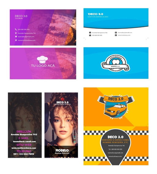 16 Mockup Tarjetas Presentacion Especializadas Editables Psd