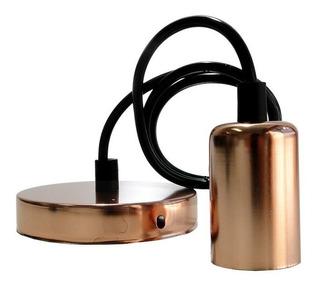 Lampara Colgante Portalampara Armado Cobre Metalico E27