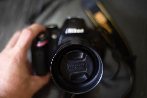Câmera Dsrl Nikon D3200 + Lente 35 1.8 Série G