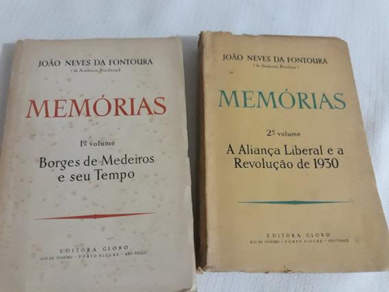 Memórias 2 Volumes Antigos J.n.fontoura-leia Descrição