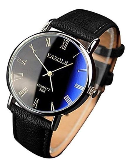 Relógio Masculino De Couro Original Yazole 269 Promoção