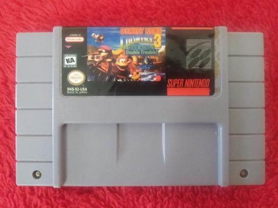 Donkey Kong Country 3 Original Relabel Salvando Bateria Nova