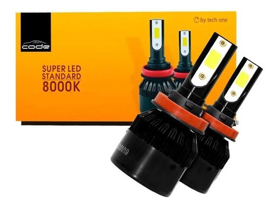 Kit Super Led 8000k Techone H1 H3 H4 H7 H8 H9 H11 Hb3 Hb4