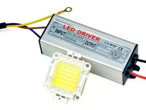 Kit Reparo Para Refletor Led 50w - Driver + Chip Led 50w