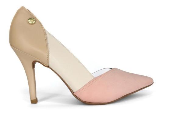 Zapatos Stilettos Mujer Cuero Combinado Vizzano Modelo 1184