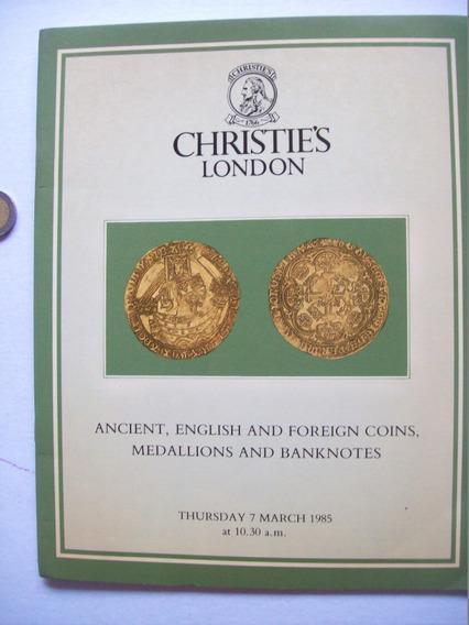 Catalogo Numismatica Moneda Oro Plata Christies London 1985