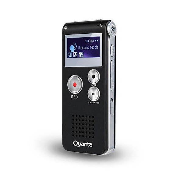 Gravador De Voz Digital Quanta 4gb Preto Qtg220i