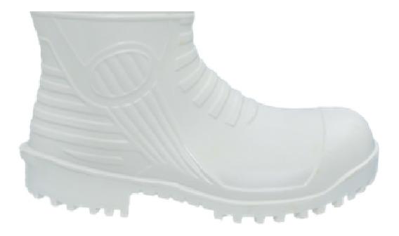 Bota Branca De Borracha Patrol Cano Curto