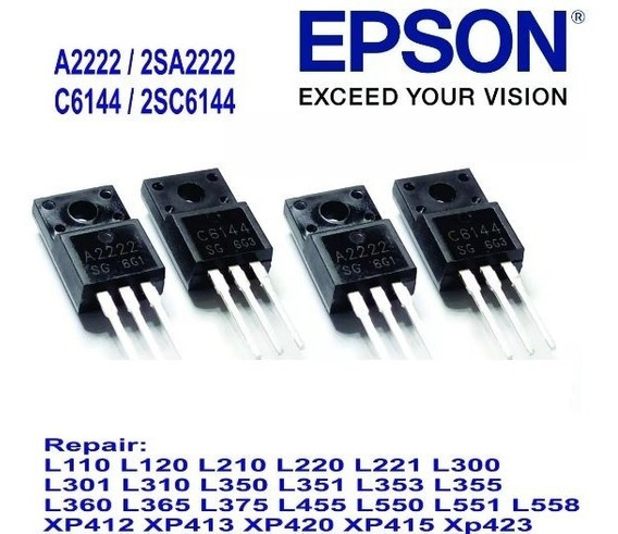 20 Pares Transistor C6144 A2222epson L355 L210 L365 Original