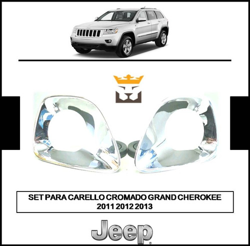 Set Tapa Carello Cromado Jeep Grand Cherokee 2011 2012 2013