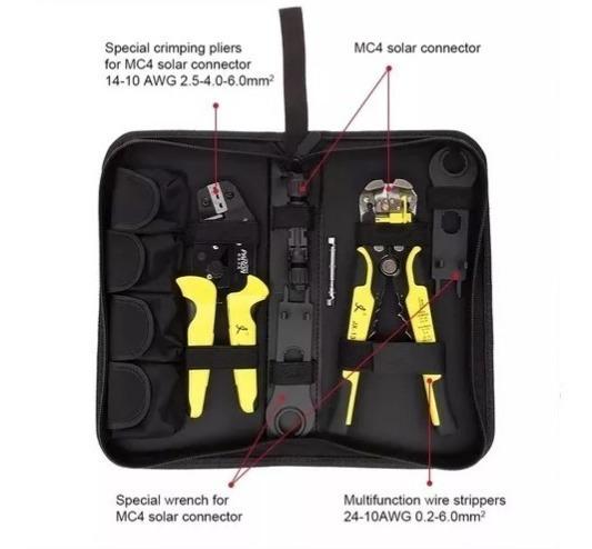 Kit Profissional Paron Crimpador Mc4