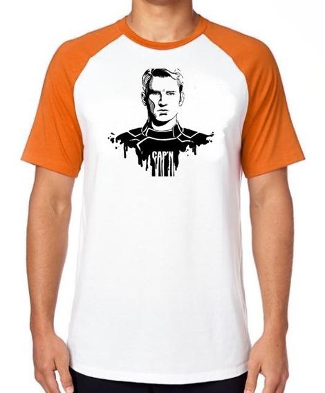 Camiseta Luxo Capitão América Vingadores Steve Roger Vingado