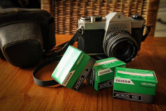 Pentax Honeywell + 3 Filmes .