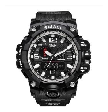 Relógio Smael Tático Militar Prova D´água S-shock Preto