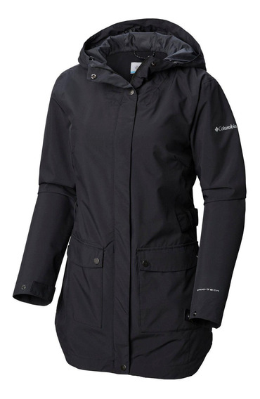 Cortaviento Here And There Trench Jacket Negro Columbia