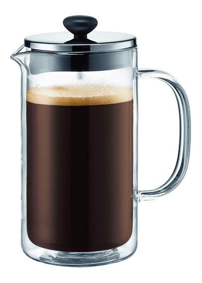 Cafetera Prensa Francesa Bodum 1 Litro 8 Tazas Doble Vidrio
