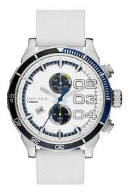 Relógio Diesel Masculino Couro Fundo Branco Dz43510bn