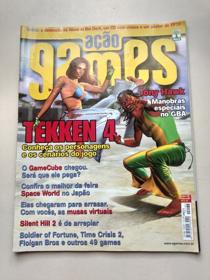 Revista Açao Games 168 Tekken 4 Silent Hill 2 Tony Hawk Y287
