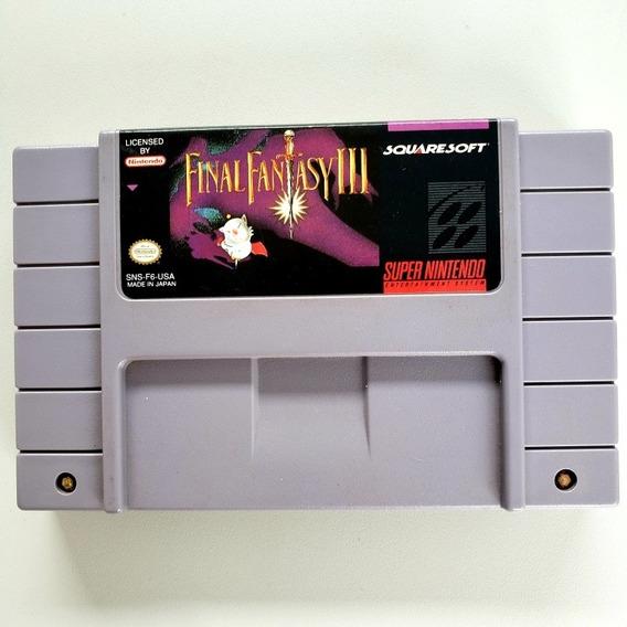 Final Fantasy 3 Snes Original Super Nintendo