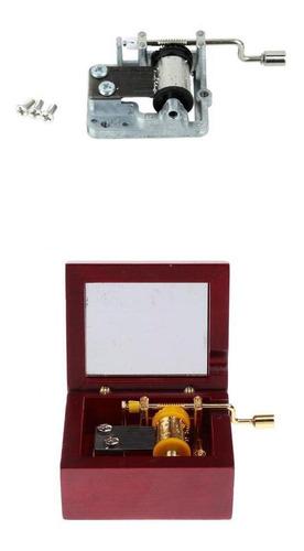 Imagen 1 de 12 de Caja De Música De Madera Mecánica Diseño Antiguo + 1 Unidad