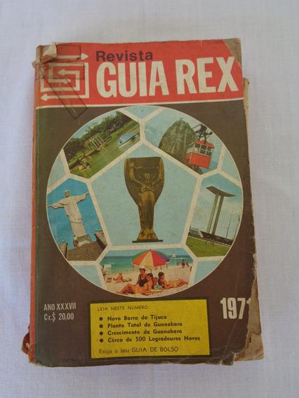 Guia Rex - 1971 - Com Mapa Rodoviário Da Guanabara