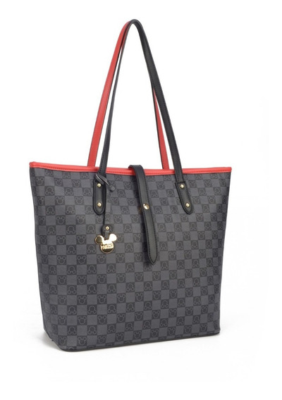 Bolsa Feminina Lateral Mickey Original Luxcel Com Pingente 78393