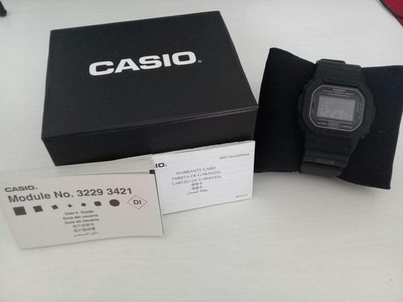 Casio G-shock Dw 5600ms-1dr Fundo Negativo - Impecável
