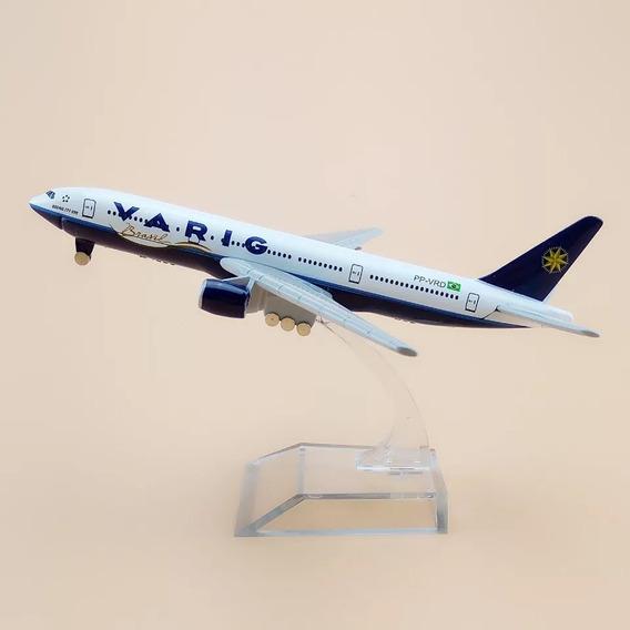 Brasil Varig B 777, Modelo De Exposição, 16 Cm.