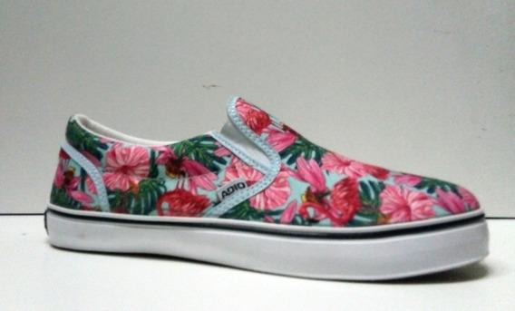 Zapatillas Flores/bananas