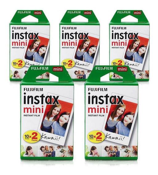 Filme Instax Mini Instantâneo Fujifilm - Kit 100 Fotos