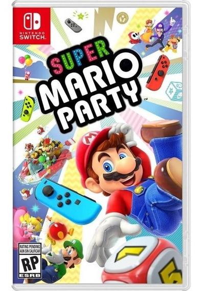 Super Mario Party Nintendo Switch Mídia Física Novo
